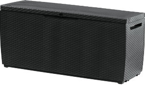 Сундук РАТАН КАПРИ RATTAN STORAGE BOX CAPRI  302л из прочного пластика цвет антрацит